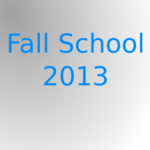 Group logo of Fall School 2013